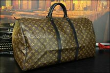 LOUIS VUITTON Rare XL Jumbo Duffle Travel Cargo Bag Mens Sac Marine Brass Handle