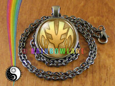 MMPR Mighty Morphin Power Rangers White Ranger Coin Cosplay Costume Necklace