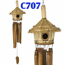 Woodstock Chimes - Thatched Roof Birdhouse Bamboo Chime - C707