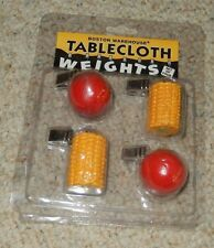 BOSTON WAREHOUSE TABLECLOTH WEIGHTS TOMATOES CORN ON THE COB NIP