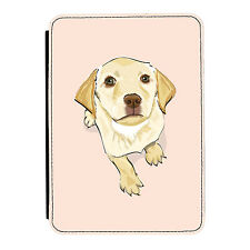 Labrador Dog Pink Puppy Cute iPad Mini 1/2/3 PU Leather Flip Case Cover