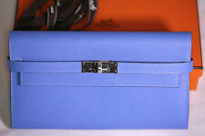 Hermes Classic BLUE PARADISE Kelly Wallet Clutch Birkin Kelly Bag Closure 3.9K
