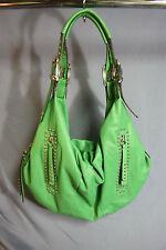 B. Makowsky Leather Handbag Shoulder Bag Green