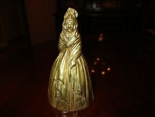 Vintage Solid brass Lady,Woman Figural Tea Bell heavy clapper