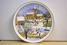 "Fenton plate. Four seasons ""Winter snow scene"""