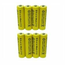 8 Piece Set AA NiCd 600mAh 1.2V Rechargeable Battery Househould Supply Reliable