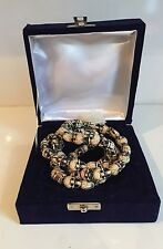Skull Bone Necklace Boxed Chain Punk Gothic Retro Shamanism Mund Mala Bone Yak