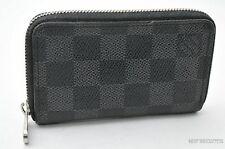 Authentic Louis Vuitton Damier Graphite Zippy Coin Purse N63076 LV 23787