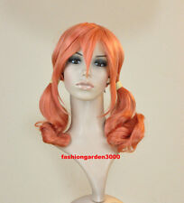 FINAL FANTASY 13 ~VANILLE~ ORANGE PONYTAILS COSPLAY WIG