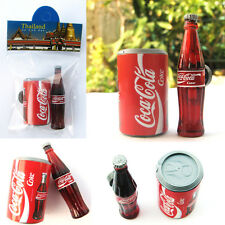 Coca Cola Coke Can + Bottle 3D Miniature Magnets Souvenir Coca Cola Thailand
