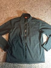 Merrell Aeroblock Jacket Men's XL Weather Resistant Windbreaker Green Plaid Kd6