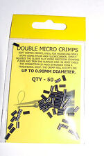 Double Micro Crimps up to 0.90mm pack of 50 - Carp Coarse Sea Fishing