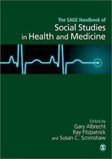 The Handbook of Social Studies in Health and Medicine, , Good Book
