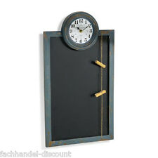 Memoboard mit Uhr,Wandtafel,Notizen,Küchenuhr,Bürouhr,Wanduhr,Tafel,Uhr,Shabby