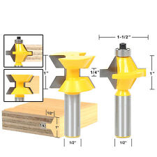1/2 inch 120 Degree Matched Tongue and Groove Router Bit Set Edge Banding