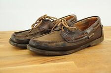 Mephisto Hurrikan Spinaker Brown Suede & Leather Men's Boat Shoes 9M Portugal