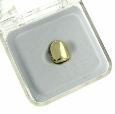 Gold Plated Small Single Tooth Cap Grillz Hip Hop Teeth Plain Solid Bling Slugs