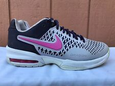 EUC Nike Air Max Cage Womens US 7 EUR 38 Tennis Shoes Black Pink Gray 554874-565