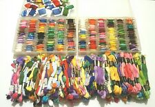 HUGE LOT OF CROSS STITCH/EMBROIDERY FLOSS-  300 SKEINS PLUS TWO FULL CASES