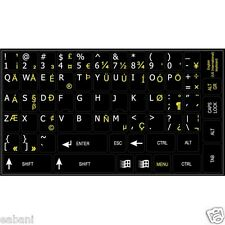 Stickers Autocollants de clavier QWERTY US INTERNATIONAL keyboard layout keys