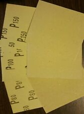 2 x Sand Paper set of 3 ABRASIVE PAPER FOR WOOD (AS SHOWN IN PICTURES)