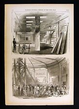 Harper's Civil War Print - 8th Massachusetts in Capitol Rotunda - Washington DC