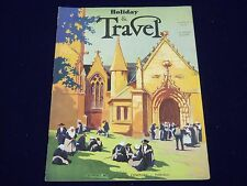 1931 AUGUST TRAVEL MAGAZINE - A CHURCH IN BRITTANY COVER - J 1945