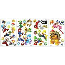 Super MARIO GALAXY decals 35 wall stickers WII Nintendo Yoshi Bowser scrapbook