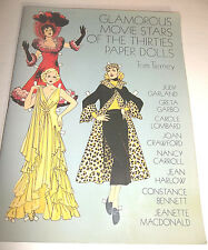 Glamorous Movie Stars Of The Thirties PAPER DOLLS Tom Tierney Full Color Book