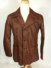 ViNtAgE 70s MeNs Retro Atomic Mod OG Pimp Gangster Leather CoAt JaCkEt 42 L