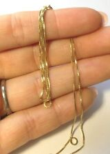 "New High Quality 18"" 18K Gold over Sterling Silver 925 Box Chain Necklace"
