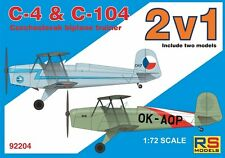 RS MODELS 1/72 c 4 + C 104 ceco BIPLANO TRAINER DOPPIO KIT # 92204