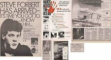 STEVE FORBERT : CUTTINGS COLLECTION -adverts- 1980s