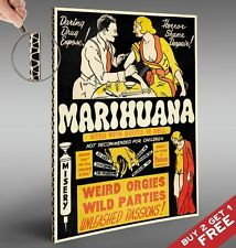 MARIJUANA FUNNY ANTI DRUG POSTER A4 Vintage Photo Art Print Home Wall Decoration