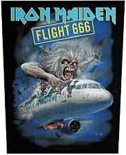 XLG Iron Maiden Flight 666 Rock Music Woven Back Jacket Patch Applique