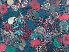 LIBERTY TORRINGTON CREPE DE CHINE - MIDNIGHT (A) - 100% SILK FABRIC - 137cm WIDE