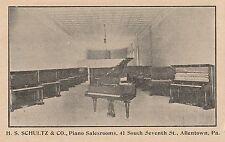 H S Schultz & Co Piano Salesroom in Allentown PA OLD