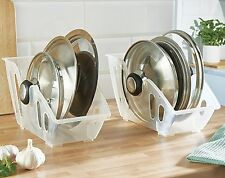 Pan Lid Storage Rack Holder Store Saucepan Lids Space Saver Kitchen Cupboard Set