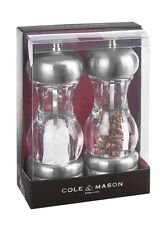Cole & Mason Salt & Pepper Mill Set Precision Grinding Saturn Acrylic Gift 16cm
