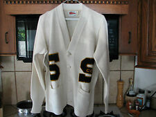 Varsity Letterman vintage sweater College Cross Country team letters