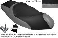 BLACK & GREY CUSTOM FITS GILERA NEXUS 125 500 SEPARATE DUAL LEATHER SEAT COVER