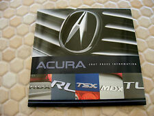 ACURA OFFICIAL RL TL TSX MDX RDX FULL PRESS KIT CD BROCHURE 2007 USA EDITION