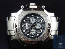 Mens Jojo/Jojino XL Big Face Stainless Steel 55 MM 0.25 Ct Diamond Watch MJ-1225