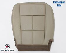 2007 Navigator-Passenger Side Bottom Leather Seat Cover-Double Stitch Seam -Tan