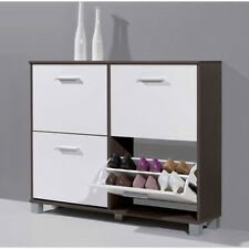 Mary Shoe Cabinet In Wenge With White Fronts