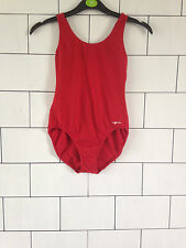 VINTAGE RETRO RED IBIZA BEACH LEOTARD FESTIVAL SWIMMING COSTUME BODYSUIT XS 6-8