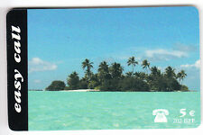 EUROPE  TELECARTE / PHONECARD .. BELGIQUE 5€ EASY CALL ILE ISLAND 10/2001  +N°