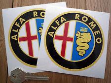 ALFA ROMEO 100mm color pegatinas redondas de coche GTA GTV