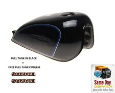 NEW PETROL FUEL TANK - BLACK + TANK EMBLEM FOR SUZUKI GN125 GN 125