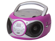 Trevi Portable Stereo Boombox with CD Player FM Radio & AUX-IN for MP3 Fuscia